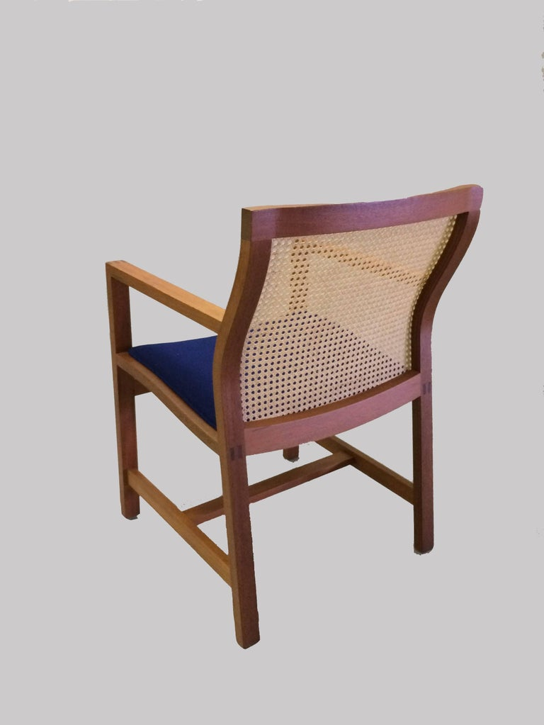 Danish 1980s Rud Thygesen and Johnny Sorensen Mahogany King Series Mahogany Armchair For Sale
