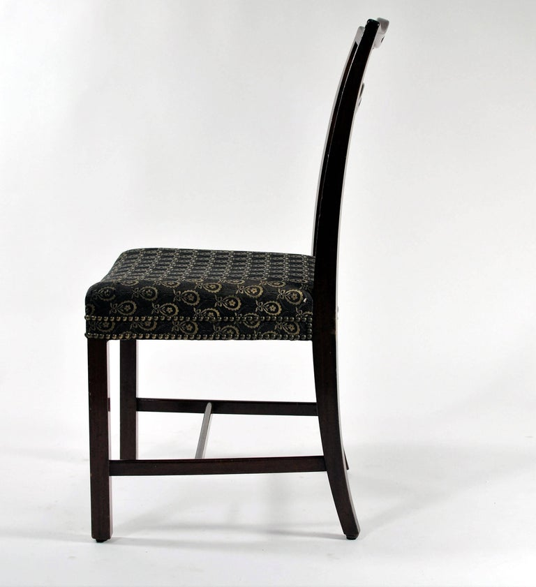 Danish 1930s Georg Kofoed Set of Six Dining Chairs in Mahogany For Sale