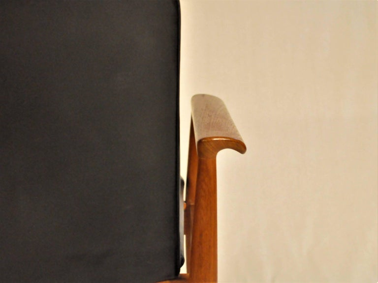 1960s Finn Juhl Set of Six Model 209 Diplomat Chair in Teak and Leather by Cado In Good Condition For Sale In Knebel, DK