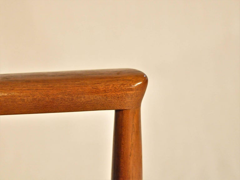 Mid-20th Century 1960s Finn Juhl Set of Six Model 209 Diplomat Chair in Teak and Leather by Cado For Sale