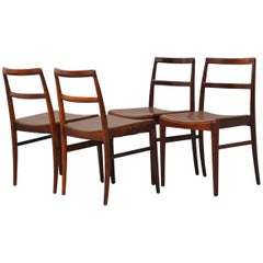 1950s Arne Vodder Set of Four Model 430 Dining Chairs in Rosewood, Sibast