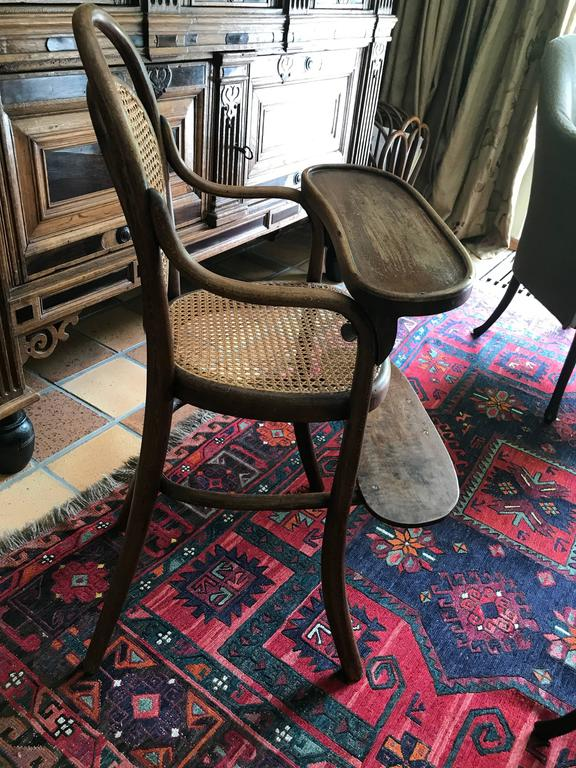 Childs chair Thonet nr 1 beech stamped Thonet 1904 Measures: 50 x 45 x 91 x 55 original footh support probably renewed.