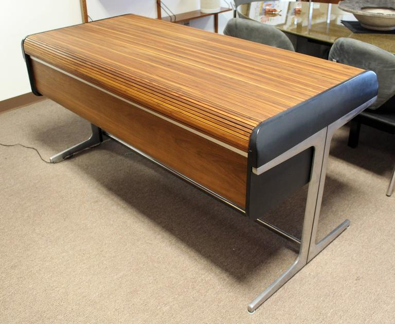 Mid Century Modern Rare Large George Nelson Roll Top