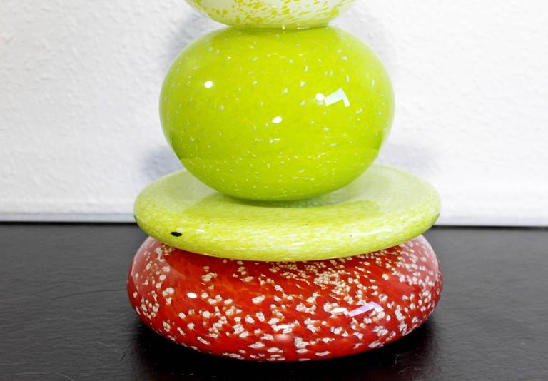 Mid-Century Modern Handblown Glass Table Sculpture Pohaky #3 by Andrew Madvin For Sale 2