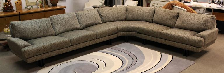 Mid-Century Modern Milo Baughman for Thayer Coggin Three-Piece Sectional Sofa 2