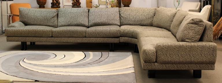 Mid-Century Modern Milo Baughman for Thayer Coggin Three-Piece Sectional Sofa 3