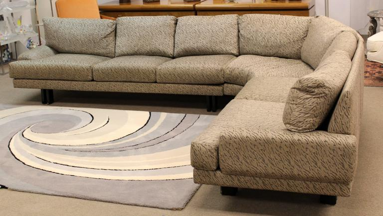 Mid-Century Modern Milo Baughman for Thayer Coggin Three-Piece Sectional Sofa 4
