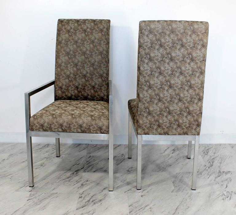 Mid-Century Modern Set of Six Milo Baughman for DIA Chrome Dining Chairs In Good Condition For Sale In Keego Harbor, MI