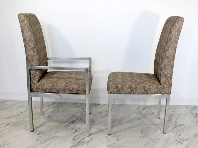 Mid-Century Modern Set of Six Milo Baughman for DIA Chrome Dining Chairs For Sale 1