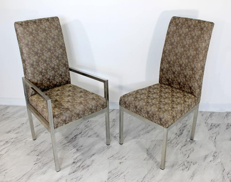 Mid-Century Modern Set of Six Milo Baughman for DIA Chrome Dining Chairs For Sale 2