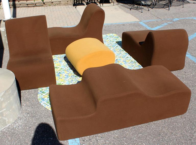 Mid Century Modern Modular Foam Sofa Sectional Set Roberto