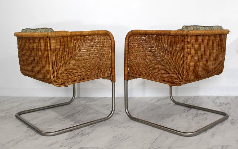 Delicieux Mid Century Modern Harvey Probber Wicker Patio Set Pair Of Basket Chairs U0026  Table For