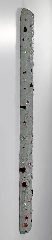 American Mid-Century Modern John Torreano Oil, Jewels on Wood Hanging Sculpture, 1975 For Sale