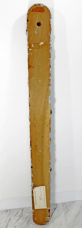 Mid-Century Modern John Torreano Oil, Jewels on Wood Hanging Sculpture, 1975 For Sale 2