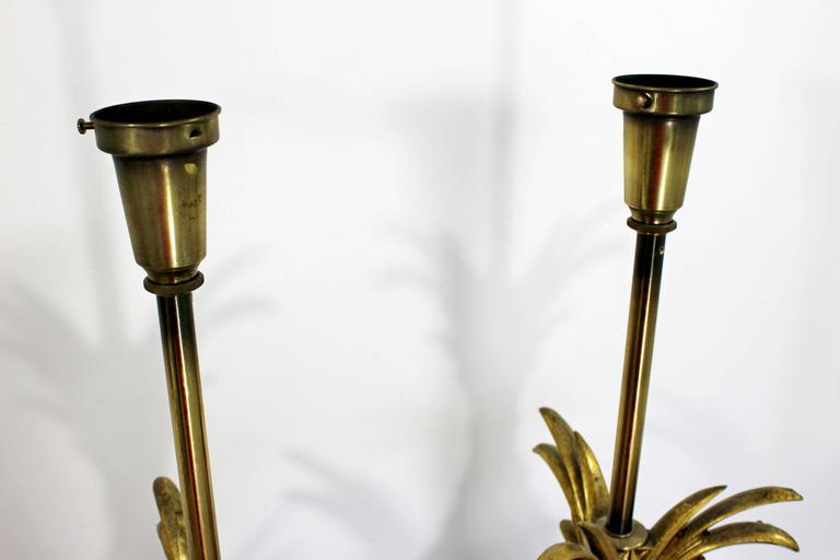 Hollywood Regency Pair of Solid Brass Ornate Chapman Table Lamps, 1980s For Sale 1