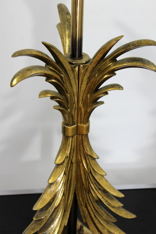 Hollywood Regency Pair of Solid Brass Ornate Chapman Table Lamps, 1980s For Sale 2