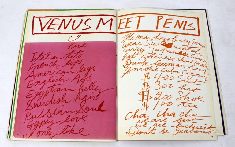Mid-Century Modern Poetry & Art Book Signed Hot And Sour Soup, 1969 Walasse Ting For Sale 2