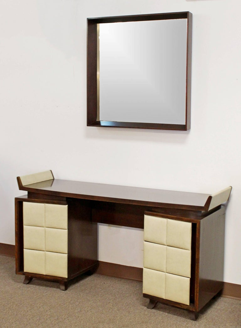 Art deco gilbert rohde for herman miller mahogany seven - 1930 s mahogany bedroom furniture ...