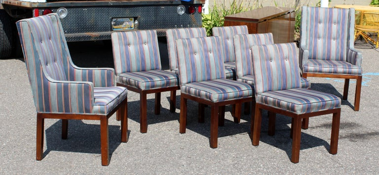Mid Century Modern Dale Ford For John Widdicomb Set Of Eight Dining Chairs In