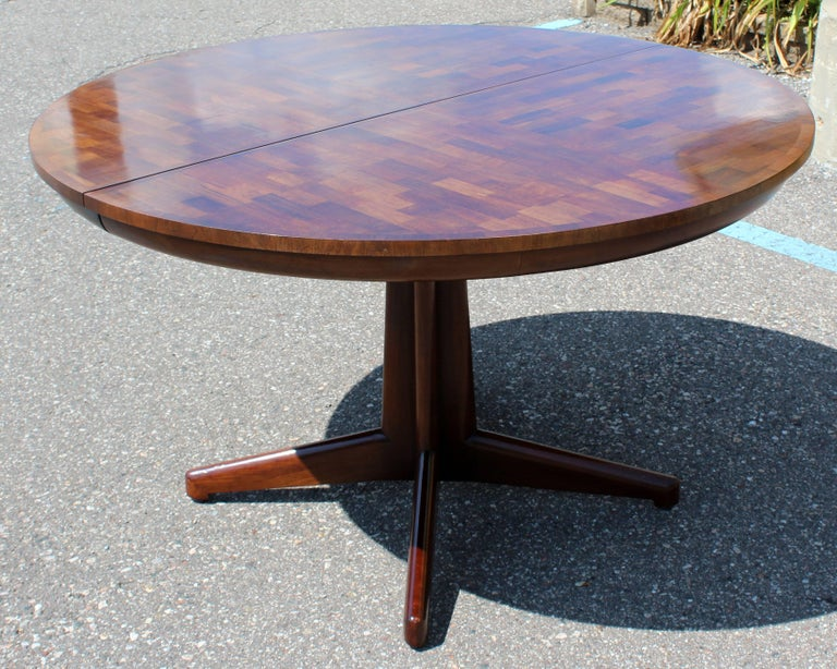 Mid-Century Modern Widdicomb Wood Oval Dining Expandable