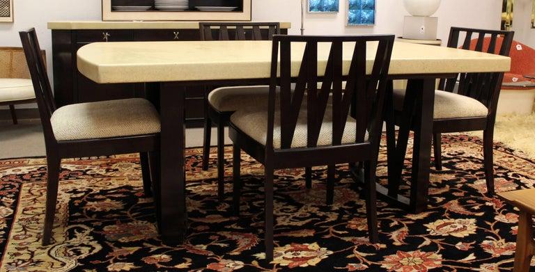 Mid Century Modern Paul Frankl Cork Top Mahogany Dining