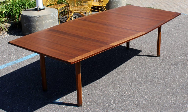 MidCentury Modern Rare Dunbar Expandable Dining Conference Table - Conference table with leaves