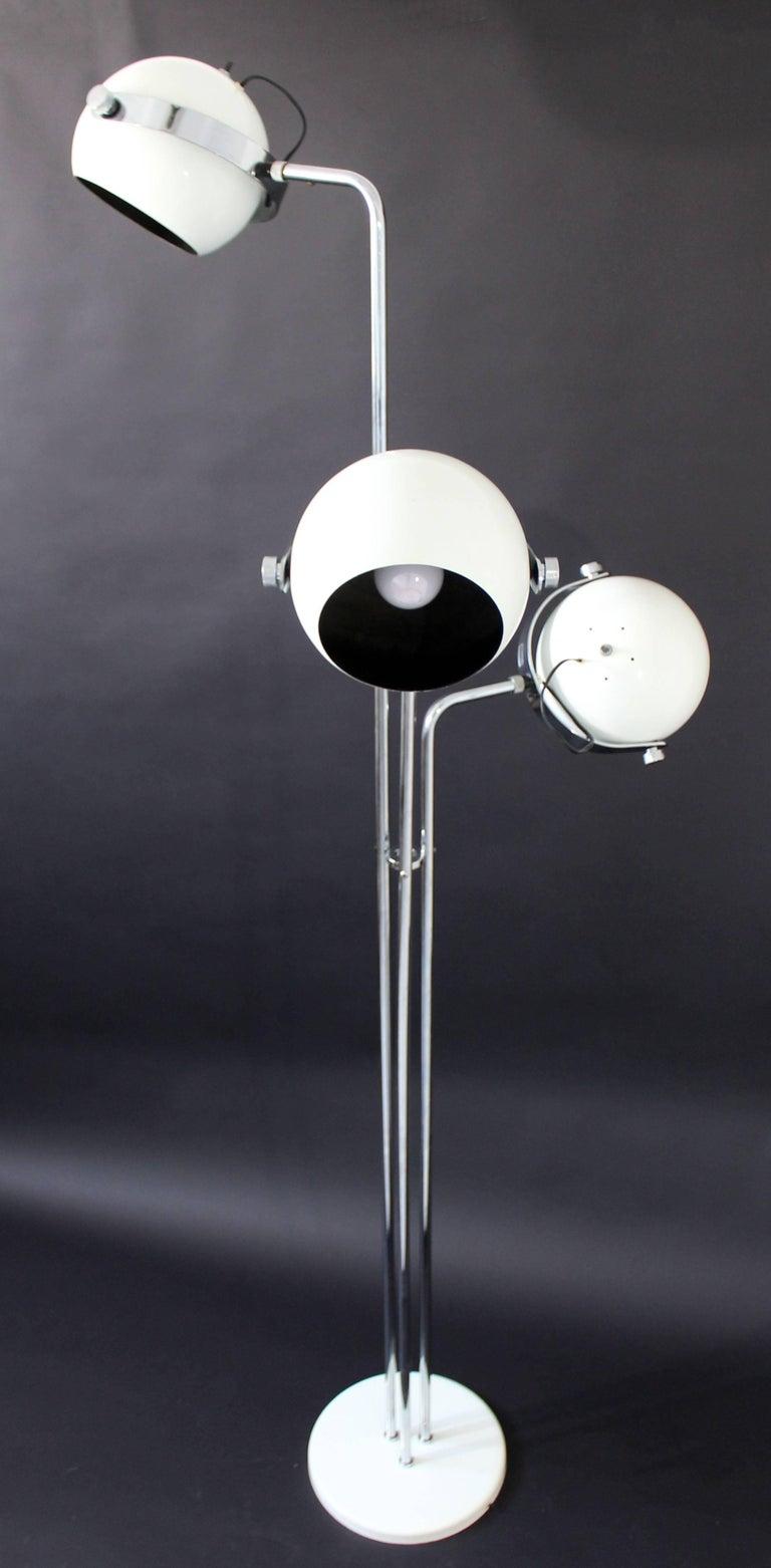 Mid-Century Modern Rare Sonneman Three Head Floor Lamp ...