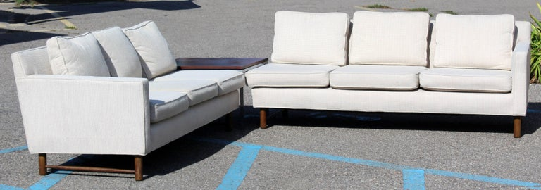 American Mid-Century Modern Rare Dunbar Two-Piece Sectional Sofa by Edward Wormley, 1960s For Sale