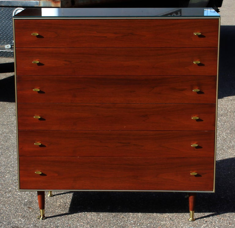 Mid century modern r way walnut bedroom set highboy for R way bedroom furniture