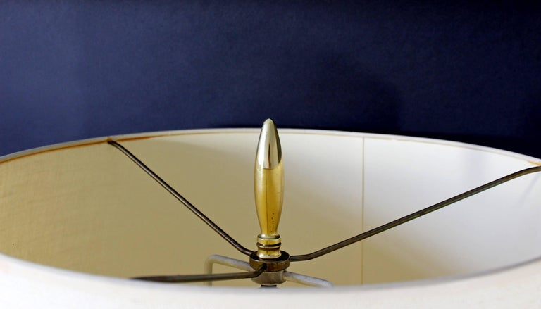 Mid-Century Modern Sputnik Atomic Glass & Brass Table Lamp by Mutual Sunset Co. For Sale 2