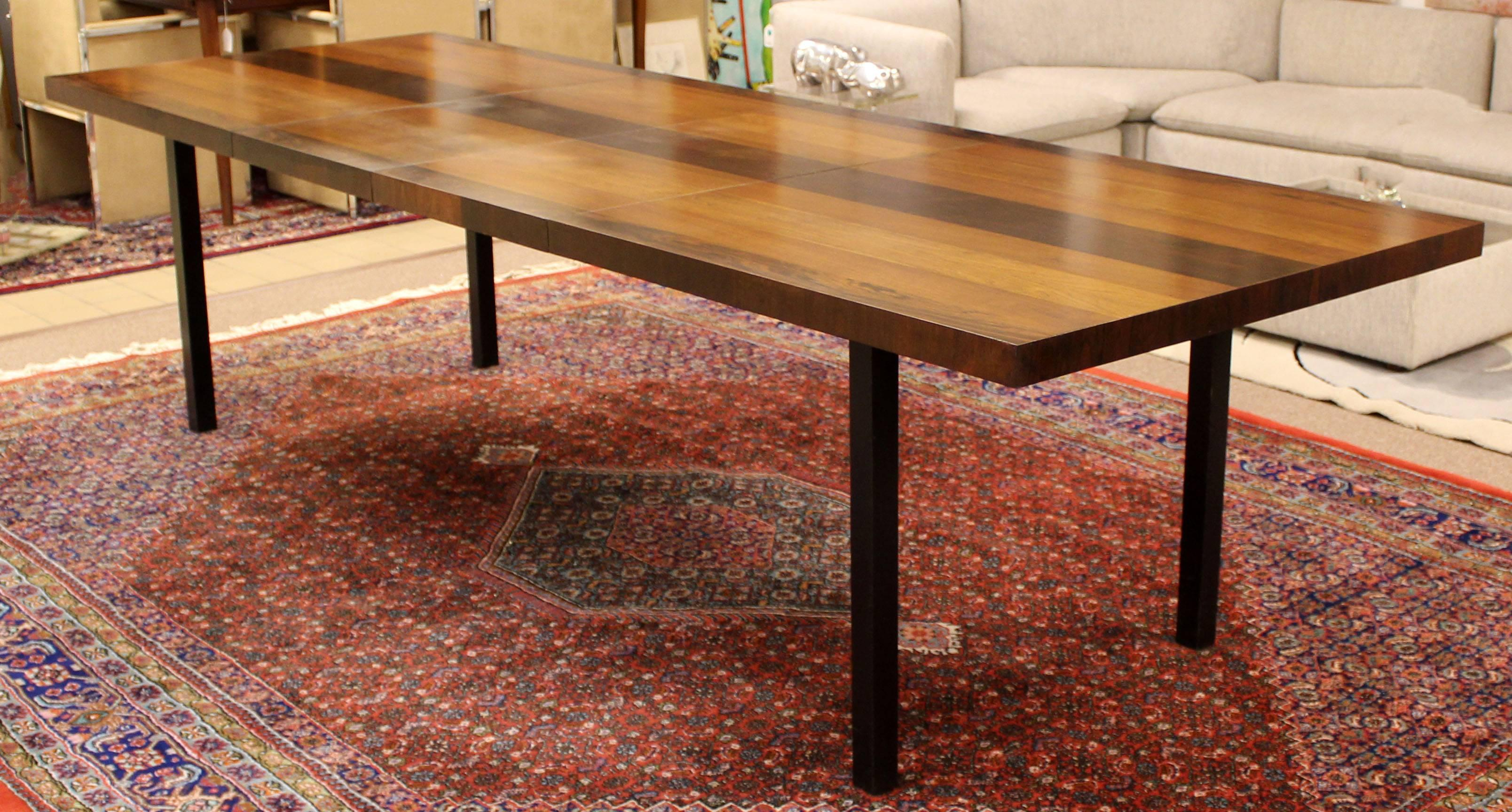 For Your Consideration Is An Incredible, Walnut, Rosewood And Birch Parsons  Expandable, Dining