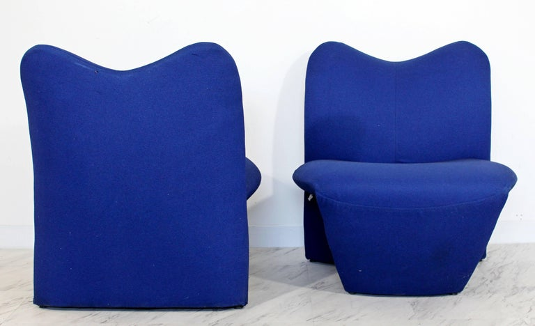Mid-Century Modern Pair of Sculpted Accent Chairs Paulin Panton Style Italian For Sale 2