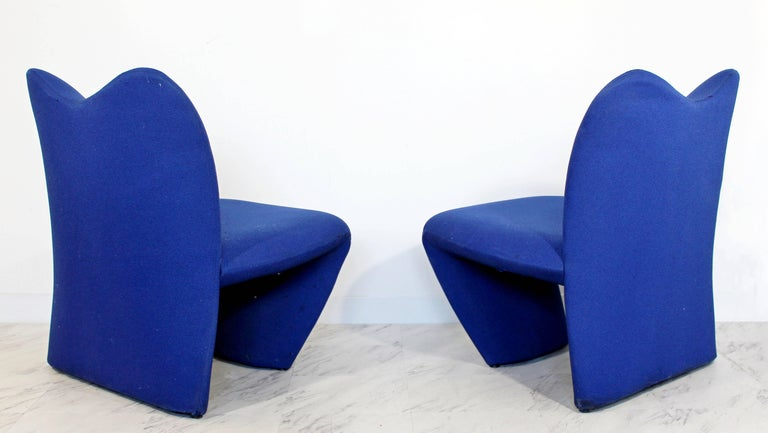 Mid-Century Modern Pair of Sculpted Accent Chairs Paulin Panton Style Italian For Sale 1