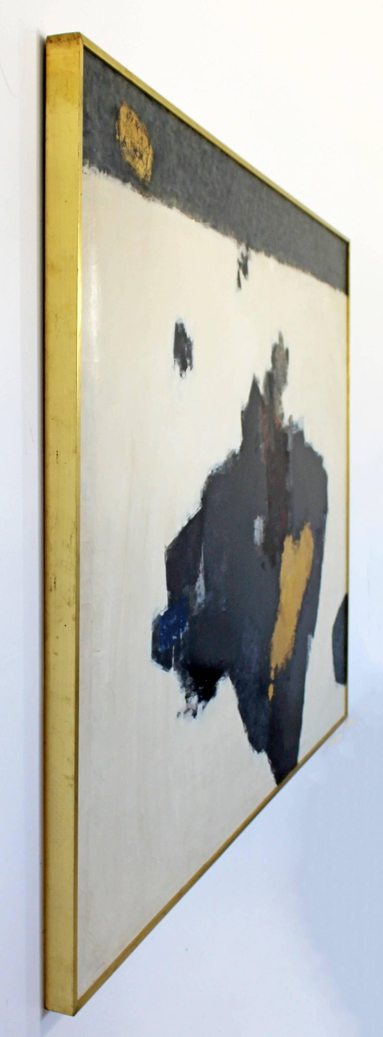 Mid-Century Modern X Large Framed Abstract Acrylic Painting by Y ...