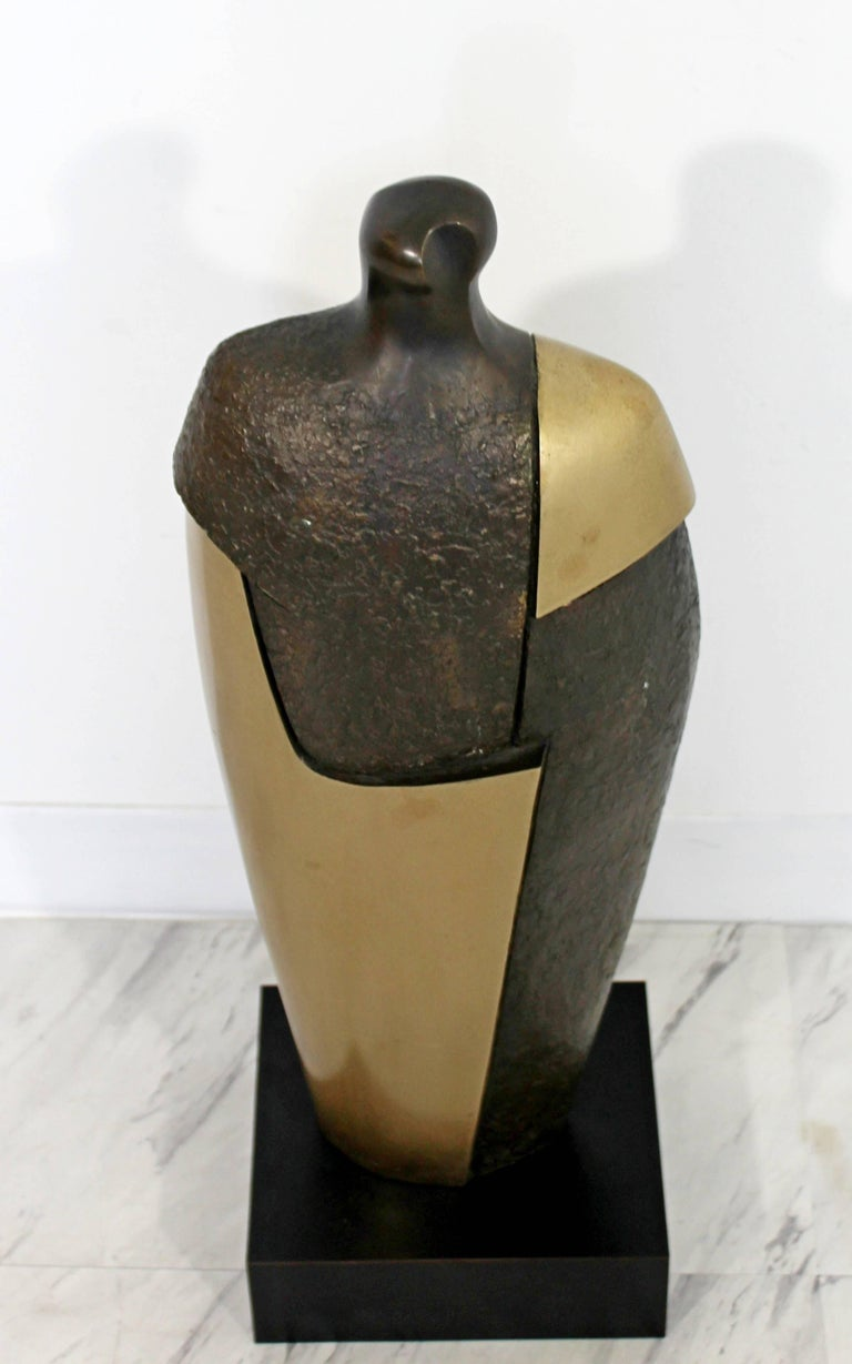 Mid-Century Modern Bronze Brass Figure Table Sculpture John Baldwin Numbered 2/6 For Sale 1