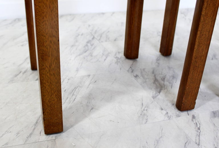 Mid-Century Modern Harvey Probber Pair of Square Travertine Side End Tables For Sale 1