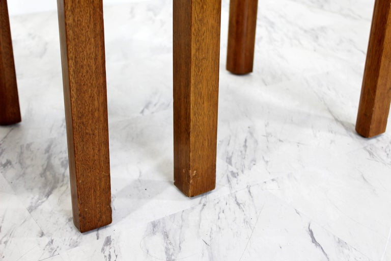 Mid-Century Modern Harvey Probber Pair of Square Travertine Side End Tables For Sale 2