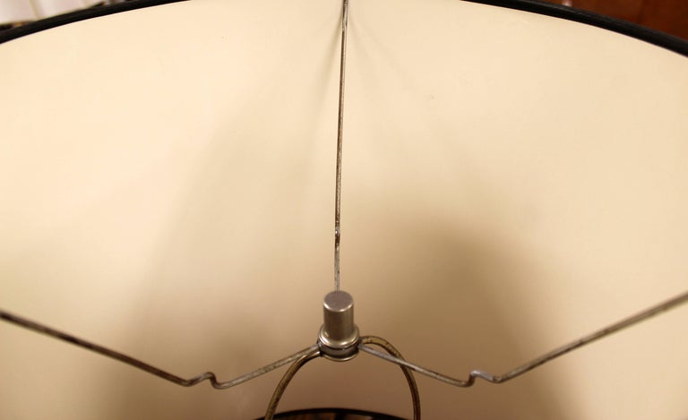 Mid-Century Modern Robert Sonneman Pair of Chrome Three Bulb Table Lamps 1970s For Sale 4