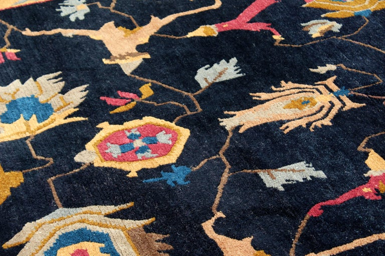 Late 20th Century Mid-Century Modern Massive Large Rectangular Tufenkian Knecht Area Rug Carpet For Sale