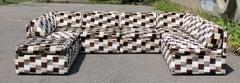 Mid Century Modern Baughman Lenor Larsen Style Modular Sectional Sofa 1970s