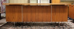 Mid Century Modern George Nelson Floating Top Walnut Executive 1950s Desk