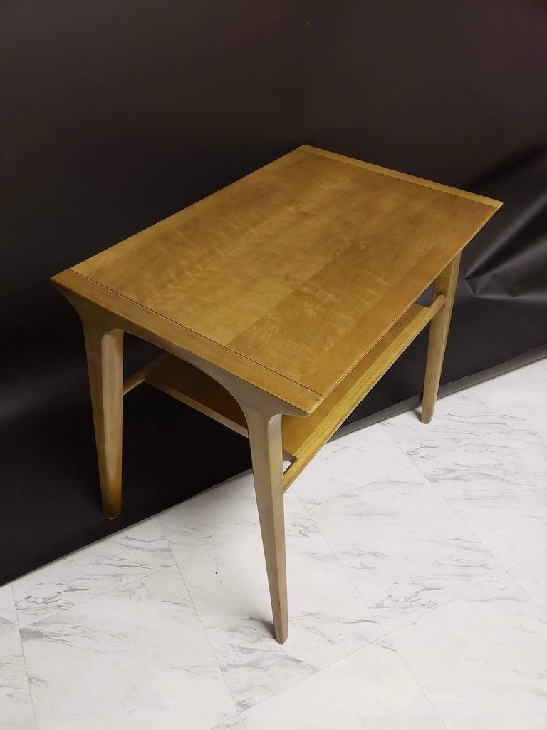 Mid-20th Century Mid-Century Modern Pair of John Van Koert for Drexel Walnut Side End Tables For Sale