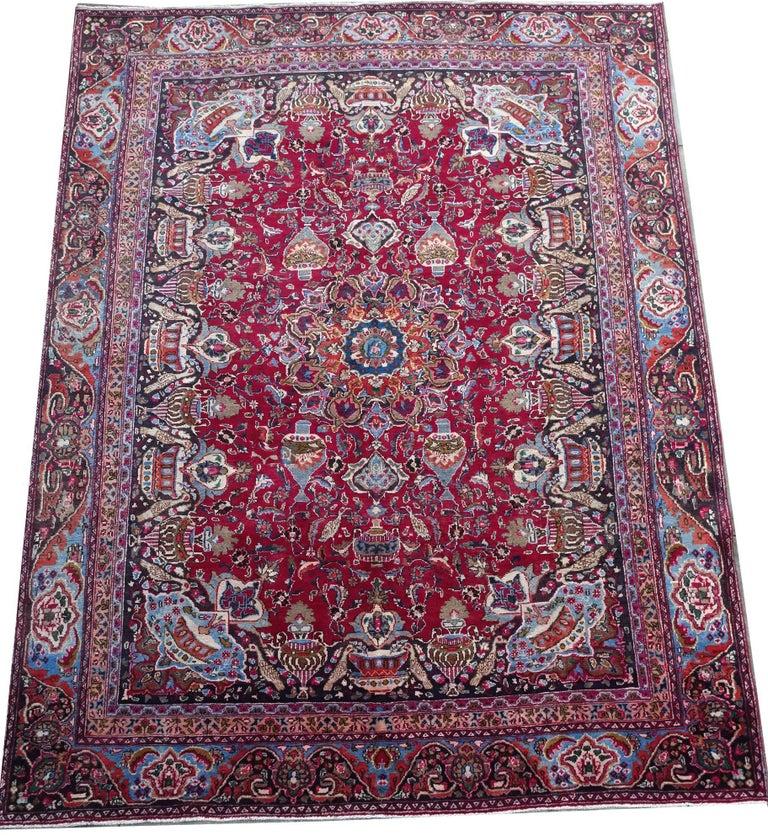 Vintage Persian Kashmar Carpet For Sale At 1stdibs