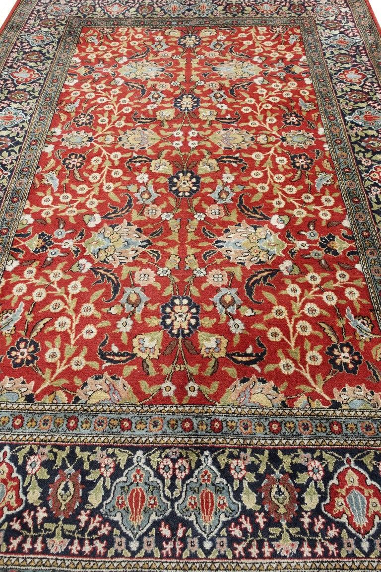 Vintage Wool Flowers Of The Seven Hills Turkish Hereke