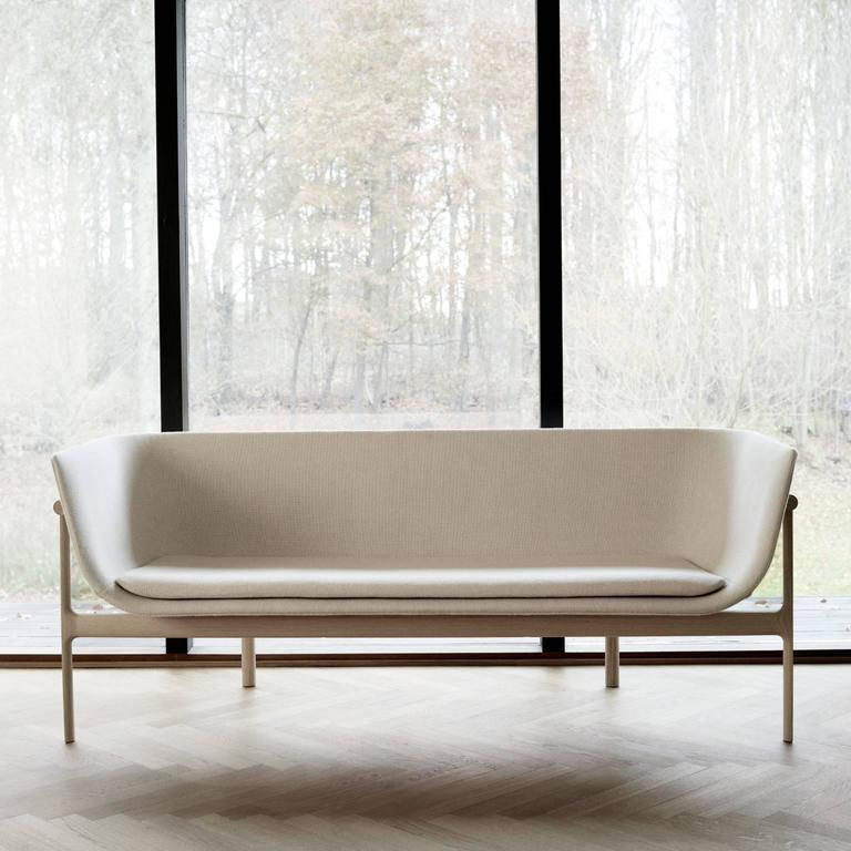 Tailor Lounge Sofa by Rui Alves in Natural Oak with Light Grey Fabric, Quickship 5