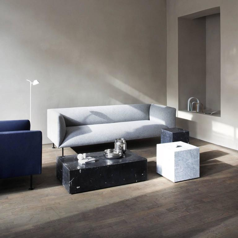 Steel Godot Three-Seater Sofa by Iskos-Berlin For Sale