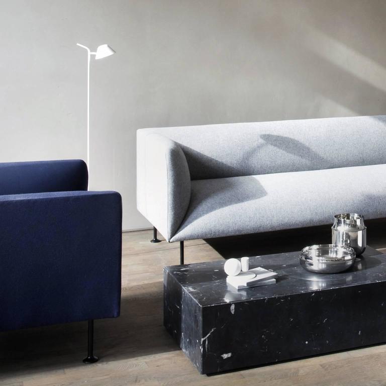 Godot Two Seat Sofa by Iskos Berlin W Steel Legs and