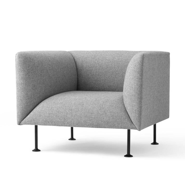 godot sofa armchair by iskos berlin w steel legs and fabric or leather upholstery for sale at. Black Bedroom Furniture Sets. Home Design Ideas