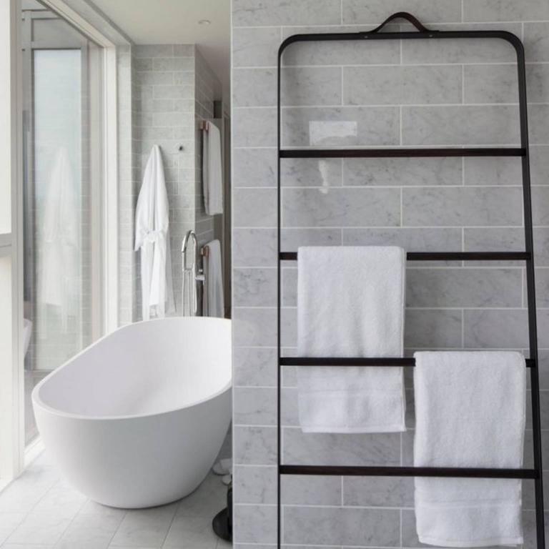 Merveilleux Scandinavian Modern Bath Towel Ladder By Norm Architects, In Dark/Black,  Oak For