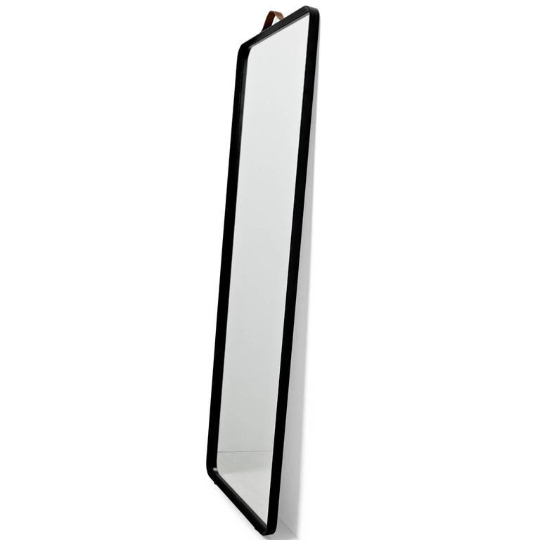 Rectangular floor mirror by norm architects in black for for Black floor length mirror